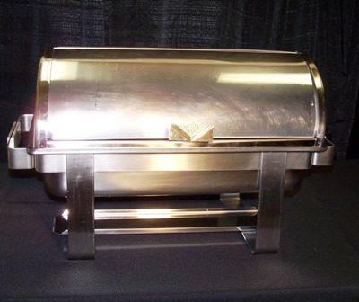 8 qt brass & ss rolltop chafer small 3300