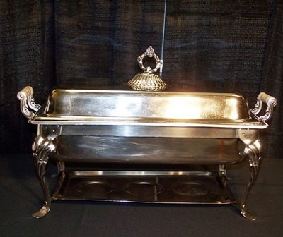 8 qt silver chafer 6589