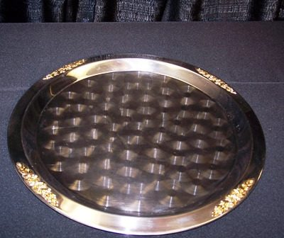brass & stainless 19in tray 3910