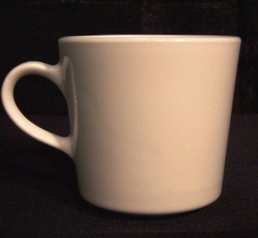 cup white china 3621