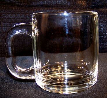 glass coffee mug 3615