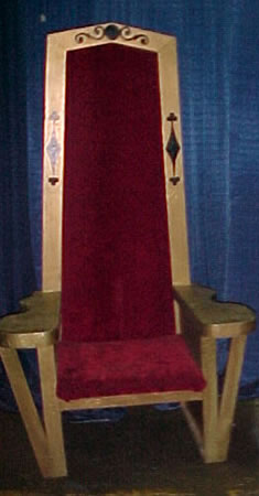 Wooden Red Velvet Seat Kings Throne Chair Party Time Rental