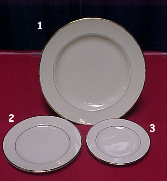 Ivory With Gold Trim Plates 6 Quot Party Time Rental